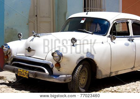 Old Vintage white Car