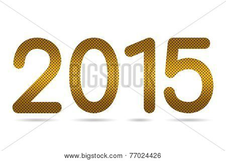 2015 Numeric From Gradient Golden Color Perforated Metal Sheet Texture