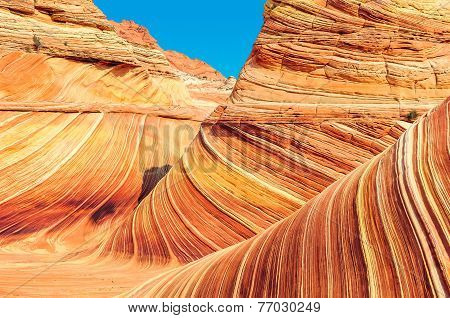 The Wave, Mountains from red sandstone in the form of ocean waves.