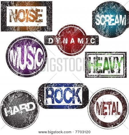 Rock Music Stamps