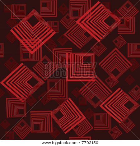 Seamless Retro Pattern With Squares