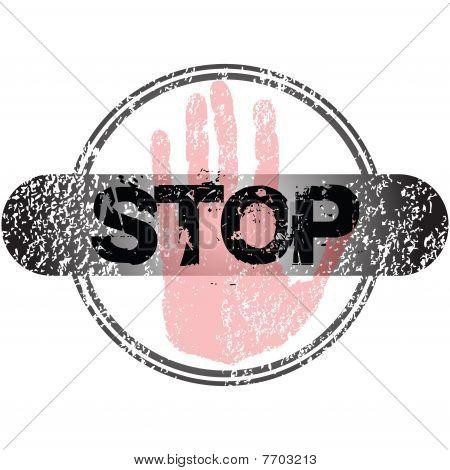 Stop Grunge Stamp