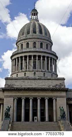 El Capitolio, Or National Capitol Building In Havana