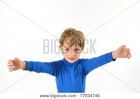 boy with open arms need hug