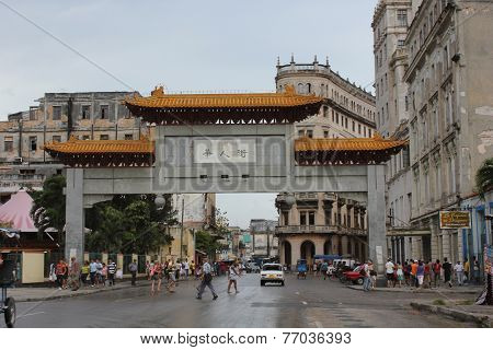 Entrance Gate Chinatown, Havana