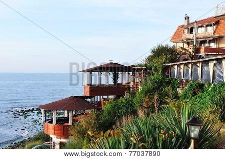 Seascape. Pavilions On The Shore