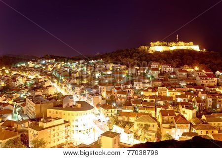 Adriatic Town Of Sibenik Night View
