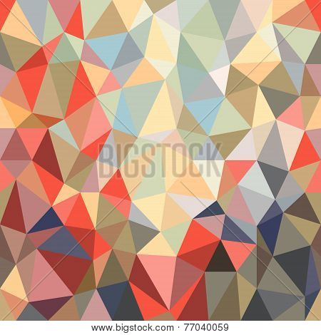 Background Of Brightly Colored Triangles Of Different Shapes And Sizes.