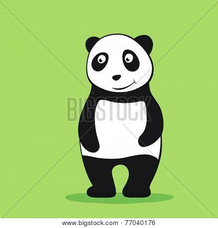 Panda cartoon character
