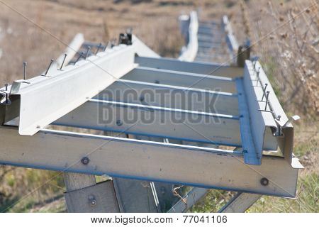 Particular Of A Metal Profiles For Photovoltaic Panels