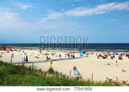 Baltic Sea Beach In Swinoujscie, Poland