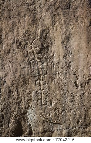 Rock Art In Chaco Canyon