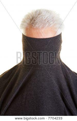 Shy Man Hiding