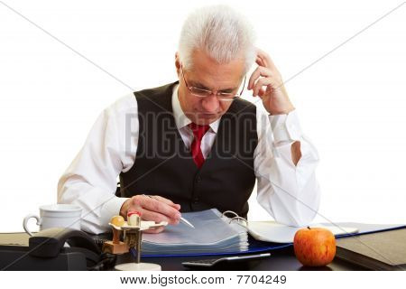 Retiree Reading Files