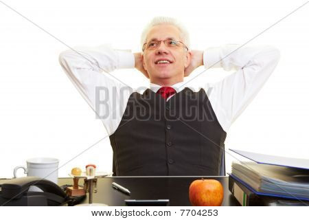Relaxed Elderly Businessman