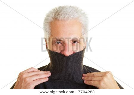 Man With Turtleneck Sweater