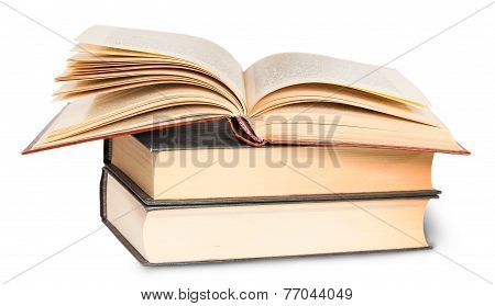 Two Closed Books And One Opened