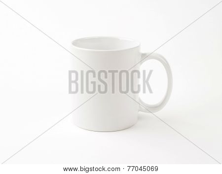 empty white mug on white background