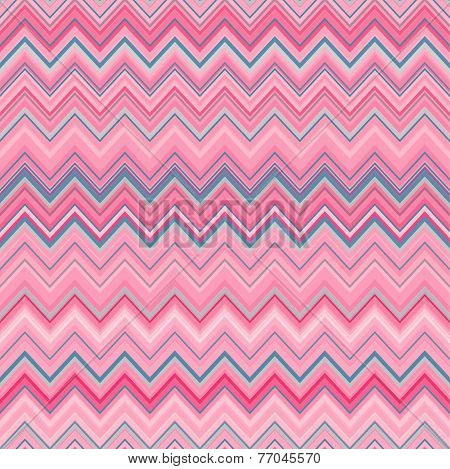 Cute zig zag stripe seamless pattern. Vector illustration