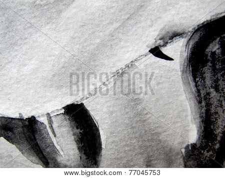 Black and white Watercolor Background 9