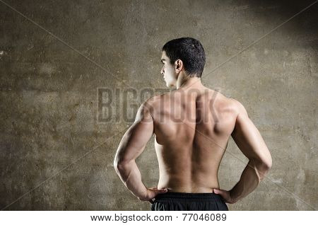 Fitness Man Posing With Naked Torso