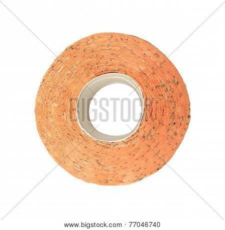 Toilet Paper Orange Isolated On White