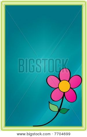 Neon Frame with Flower