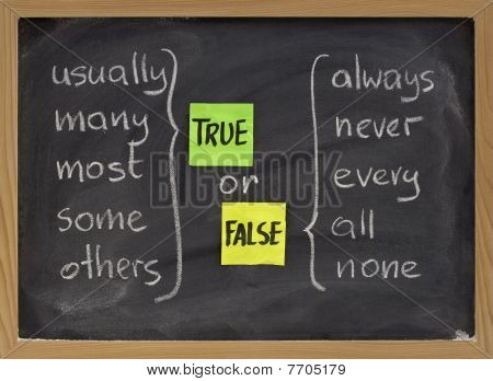 True Or False Words