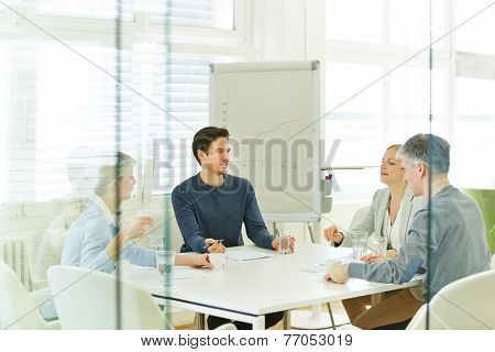 Business team in a consulting meeting in the office