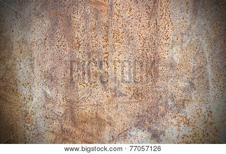 Close Up Of Rusty Metallic Surface
