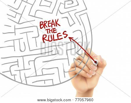 Break The Rules Written By Hand