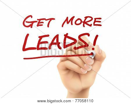 Get More Leads Words Written By Hand