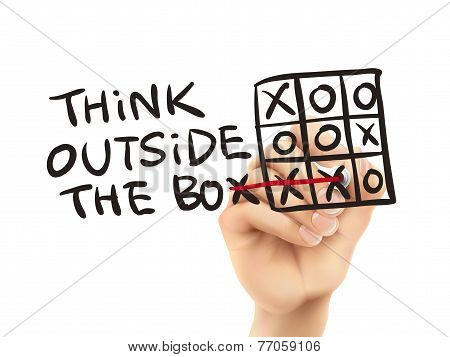 Think Outside The Box Written By Hand