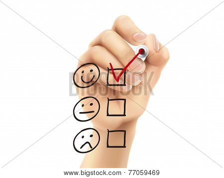 Customer Service Questionnaire Drawn By Hand
