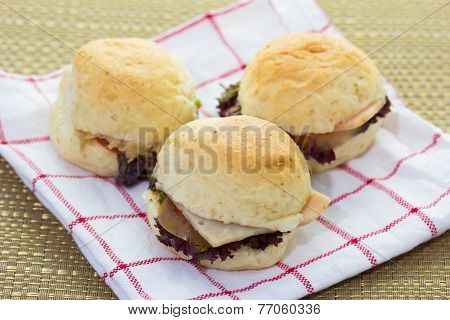 Close Up Of Mini Burgers