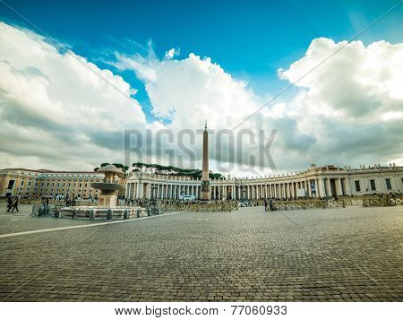 Vatican Saint Peter's Square in Vatican City