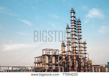 Chemical Plant Equipment Closeup