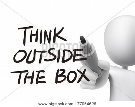 Think Outside The Box Written By 3D Man