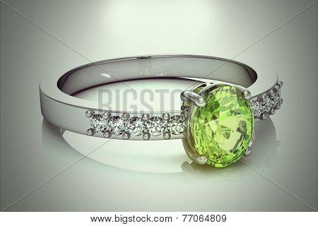 Ring On White Background