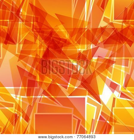 Abstract Fiery Red Seamless Pattern Of Geometric Shapes