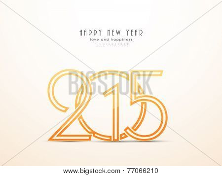 Happy New Year 2015 celebration poster, banner or flyer with stylish text 2015 on shiny background.