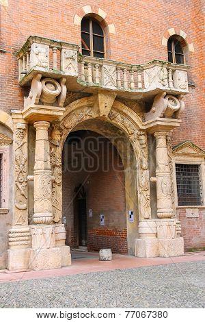 Arch In The Courtyard Of The Palazzo Del Capitano, Piazza Dante, Verona, Italy