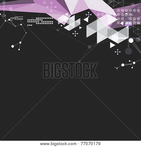 Abstract Digital Science Background Illustration
