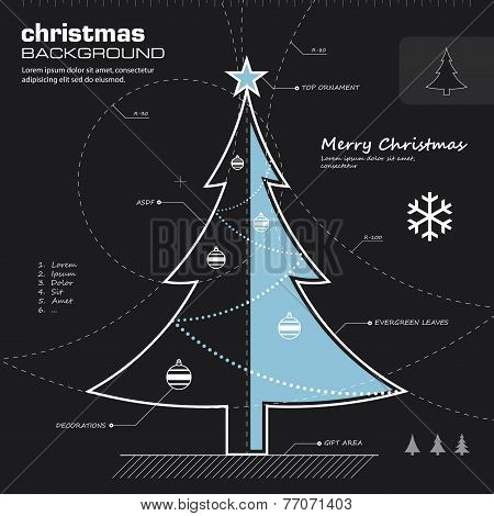 Christmas Tree Design Vector Background