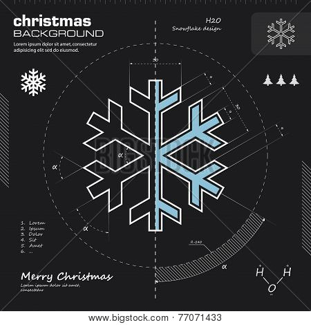 Snowflake Design Vector Background