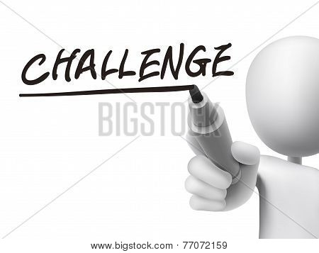 Challenge Word Written By 3D Man