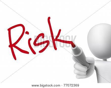 Risk Word Written By 3D Man