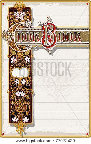 Vintage Cook Book Ornamental Page