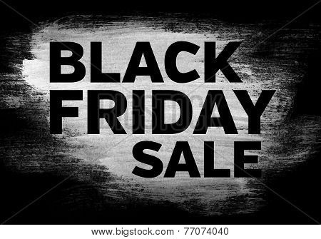 Black Friday Sale Brushed Banner
