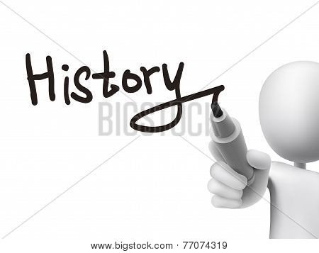 History Word Written By 3D Man